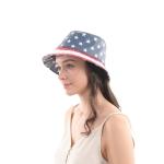 CH0612 American Flag Print Bucket Hat
