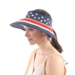 CH0605 American Flag Pattern Roll-up Visor