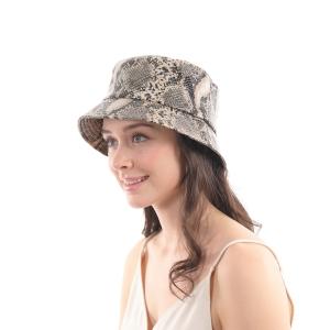 CH0602 Python Pattern Bucket Hat