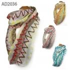 AD2036 Zig Zag Print Infinity Scarf