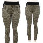 AL14230 Houndstooth Pattern Leggings
