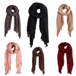 AO557 SOFT TEXTURED SOLID SCARF