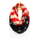 SS2604 Vintage American Flag Infinity