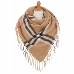 AO5048 Basic Plaid Pattern Square Scarf