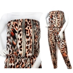 LGS164 Leopard Pattern Jumper suit