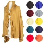 CB022 RUFFLE SCARF (W/NEW COLORS)