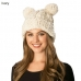 CH6301 Knitted Hat with Two Pom Poms
