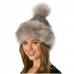 CH6403 Faux Fur Accents Pom Pom Hat