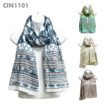CIN1101 Evil Eye Pattern Scarf