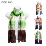 CIN1103 Tie-Dyed Scarf