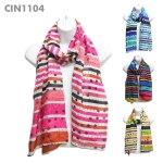 CIN1104 Polka Dot & Stripe Scarf
