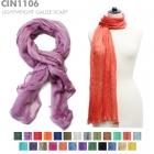 CIN1106  Solid Color Gauze Scarf