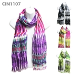 CIN1107 Multicolored Evil Eye Pattern Scarf