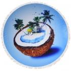 CM7030 Coconut Palm Tree Round Beach Towel