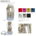 CMF3015 Flower Corsage Scarf
