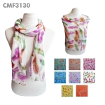 CMF3130 Floating Feathers Pattern Scarf