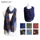 CMF3137 Skull And Spot Pattern Scarf