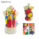 CMF3151 Overlapping Large Multicolor Circles Scarf
