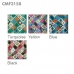 CMF3158 Multicolor Checkered Pattern Scarf