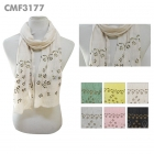 CMF3177 Studded Multiple Flower Scarf