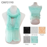 CMF3190 FLOWER LACE SHEER SCARF