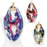 CMF3323 Rough Watercolor Infinity Scarf