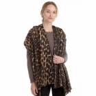 CS0150 Soft Texture Leopard Pattern Scarf, Brown