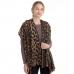 CS0150 Soft Texture Leopard Pattern Scarf, Brown