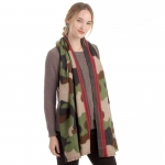 CS0151 Soft Texture Camouflage Pattern Scarf