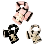 CS7204 Kids Teddy Bear Infinity Faux Fur W/ Slit