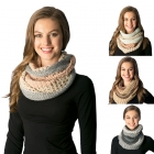 CS7251 Multi Colored Knitted Infinity Scarf