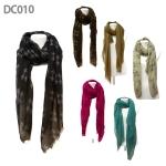 DC010 Print Owl Long Scarf