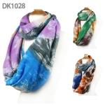 DK1028 Tie-dyed Print Infinity Scarf