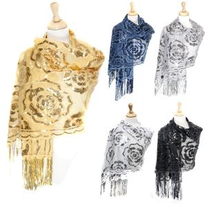 EV225 Rose designed Party shawl