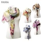 FA006 Oversized Flower Print Scarf