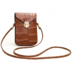 FB010 Faux Leather Small Cross-body Bag, Brown