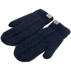 FG009 Solid Lined Mitten Touchscreen Gloves - Navy