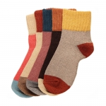 FO015 Multi Color Pattern Soft Plush Socks- Dz