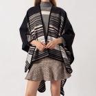 FP005 Stripes Pattern Unbalance Cape