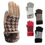 G4125 Winter Double Layers Herringbone Gloves