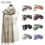GL1202 LIGHT CHECKER PRINT SCARF