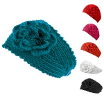 HB1713 Embroider Flower Headband