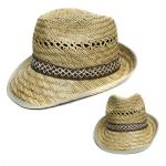 H2143 Men's Fedora Straw Hat