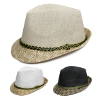 H5124 Straw Fedora Hat