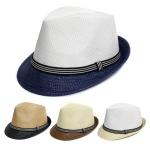 H5125 Straw Fedora Hat