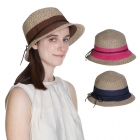 HY1023 STRAW HAT W/ LEATHER STRING ACCENT