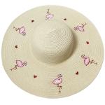 CH8453 Flamingo Straw Hat, Ivory