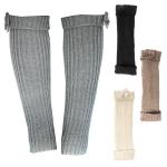 JBS0002 Ribbon Stripe Lined Leg Wamer