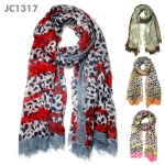 JC1317 Amazon Leopard Scarf