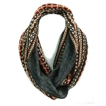 JF0036 Brown Pattern SCarf